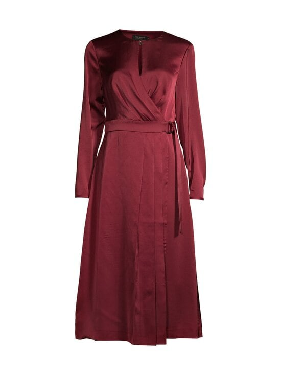 Ted Baker London - Neenha Side Wrap Dress with Pleat Detail -mekko - 45 RED | Stockmann - photo 1