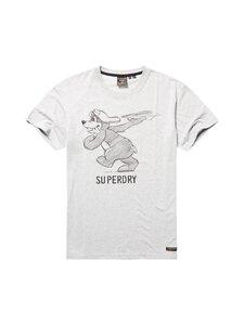 Superdry - Military Box Fit Graphic Tee -paita - 07Q GREY MARL | Stockmann