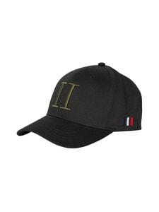 Les Deux - Encore Organic Baseball Cap -lippalakki - 100510-BLACK/LICHEN GREEN | Stockmann