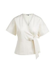 cut & pret - Tessa Wrap Jersey Top cut -paita - OFFWHITE   Stockmann