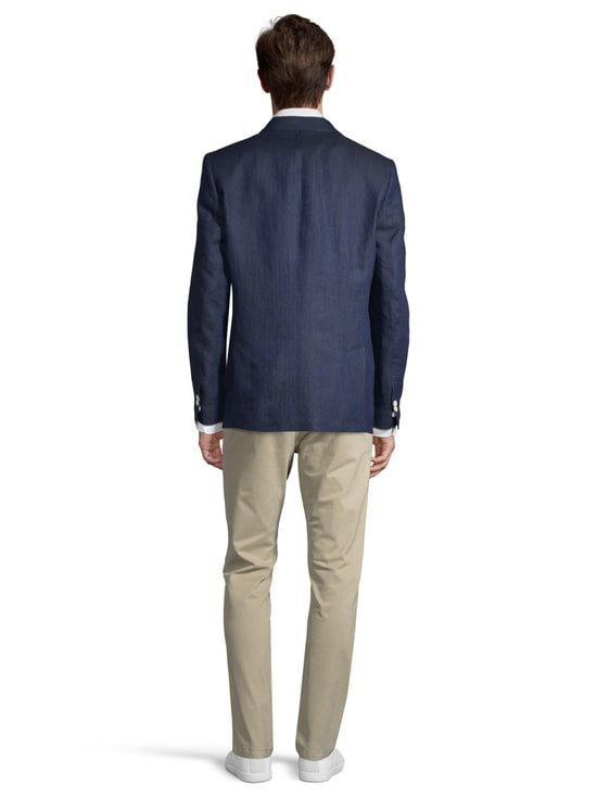 GANT - Regular Linen Herringbone -bleiseri - 410 MARINE | Stockmann - photo 3