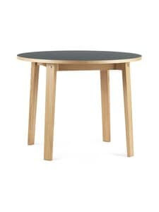 Normann Copenhagen - Slice Table Linoleum -pöytä ⌀ 95 cm - OAK/BLACK | Stockmann