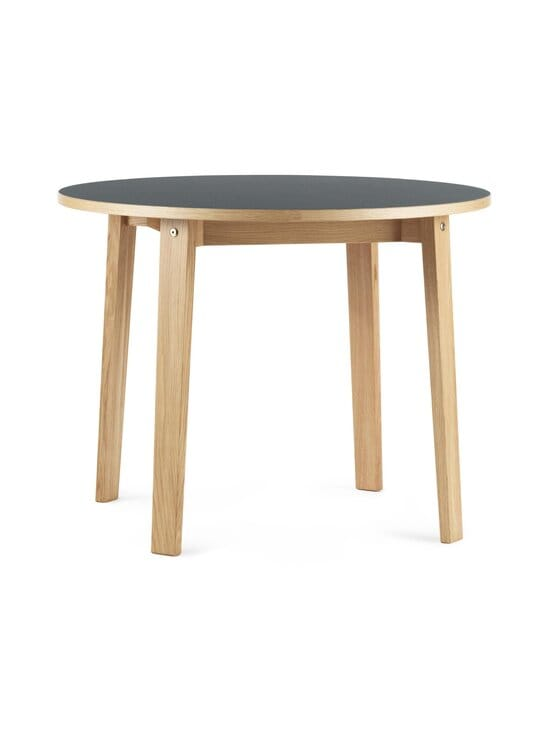 Normann Copenhagen - Slice Table Linoleum -pöytä ⌀ 95 cm - OAK/BLACK | Stockmann - photo 1
