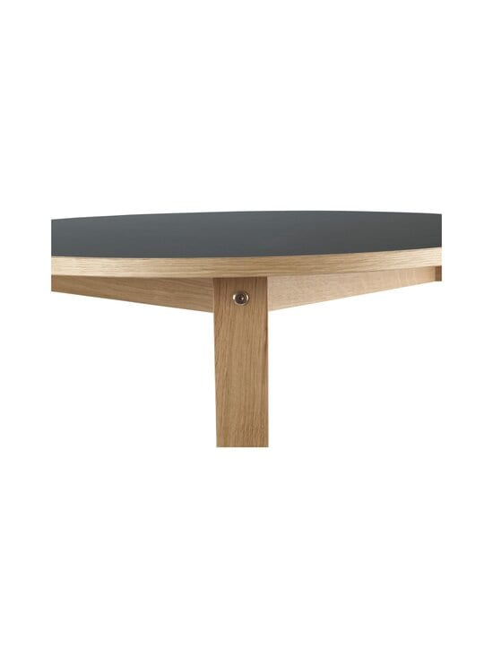 Normann Copenhagen - Slice Table Linoleum -pöytä ⌀ 95 cm - OAK/BLACK | Stockmann - photo 3