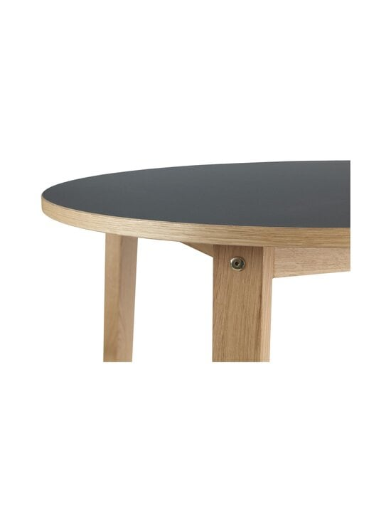 Normann Copenhagen - Slice Table Linoleum -pöytä ⌀ 95 cm - OAK/BLACK | Stockmann - photo 4