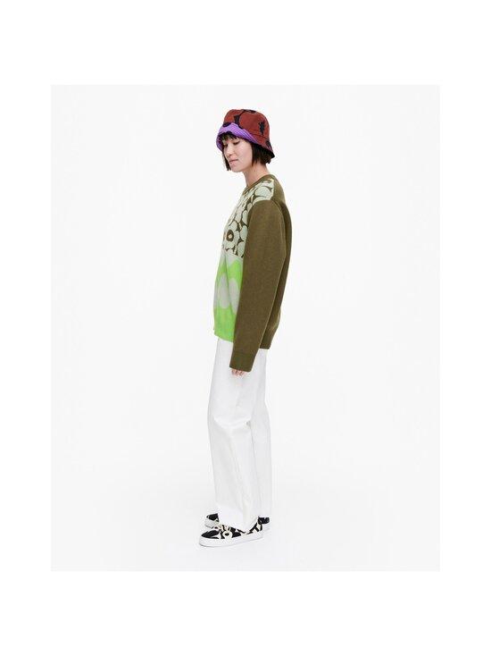 Marimekko - Co-Created Sinirinta knitted pullover -neule - 066 BRIGHT GREEN, DARK OLIVE   Stockmann - photo 5