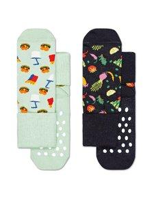 Happy Socks - Kids Food Anti-Slip -sukat 2-pack - 0100-MULTI | Stockmann