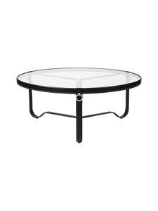 Gubi - Adnet Coffee Table Circular -sohvapöytä ⌀ 100 cm - BLACK LEATHER | Stockmann