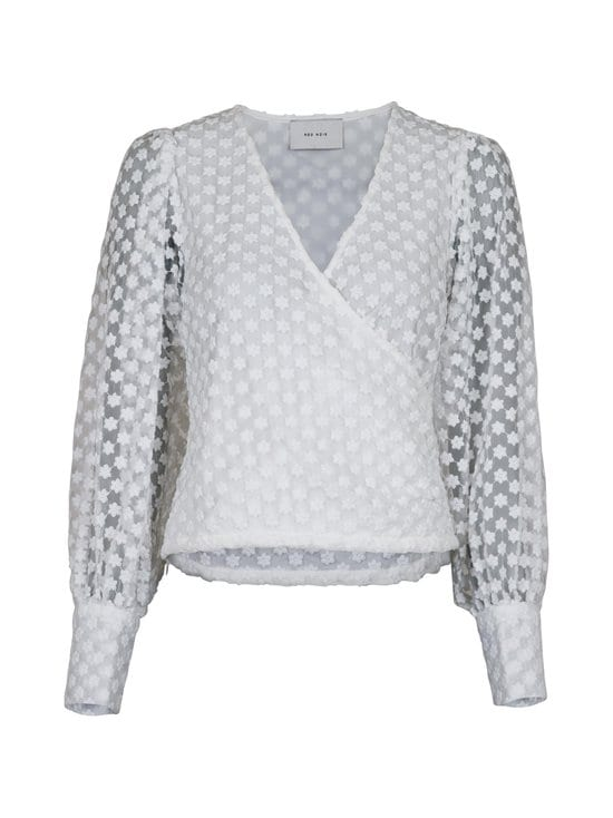 Neo Noir - Drina Organza Flower -pusero - 120 WHITE | Stockmann - photo 1