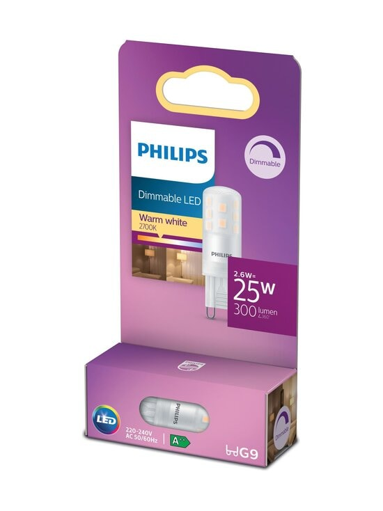 Philips - LED Capsule 25W G9 Warm White Dimmable -polttimo - WHITE | Stockmann - photo 1