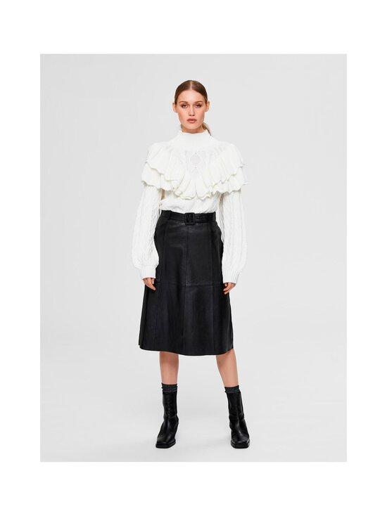 Selected - SlfOlly HW Midi Leather Skirt -nahkahame - BLACK | Stockmann - photo 3