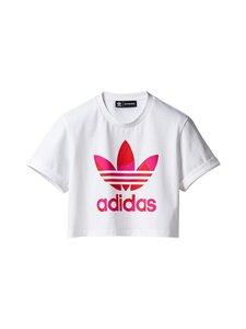 adidas x Marimekko - Crop Tee -paita - WHITE/VIVRED/TEREMA WHITE/VIVID RED/TEAM REAL MAGENTA | Stockmann