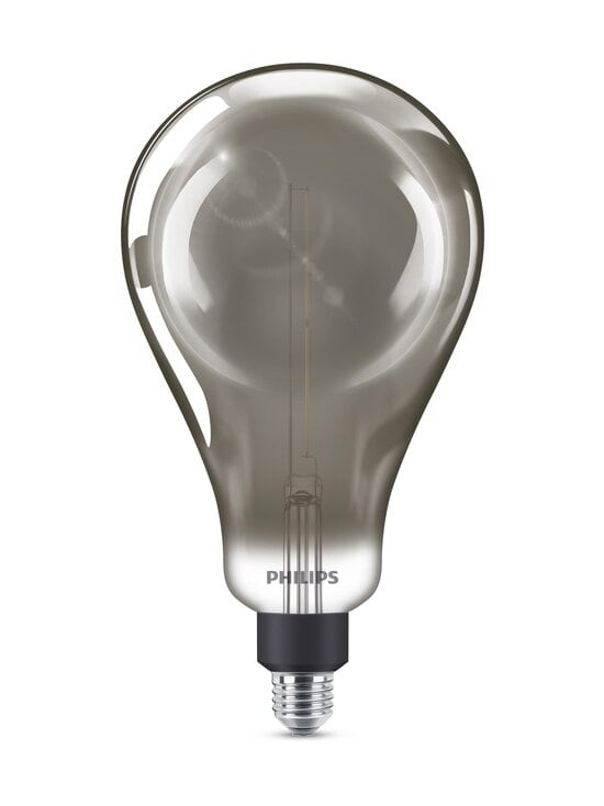 Philips - LED Giant Smoky Dimmable 6,5W E27 A160 -lamppu - GREY | Stockmann - photo 1