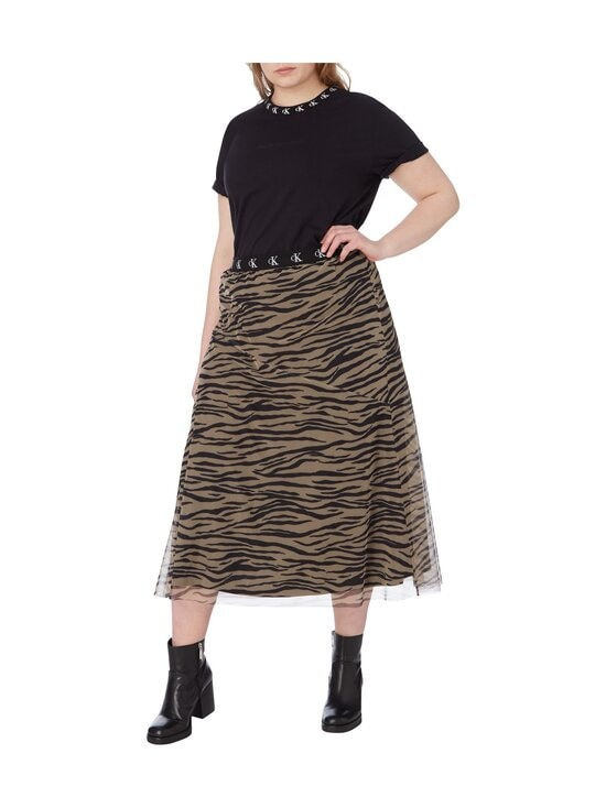 Calvin Klein Jeans Plus - CK Logo Trim SS Tee -paita - BEH CK BLACK | Stockmann - photo 5