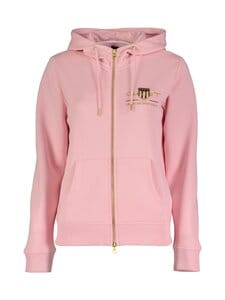GANT - Archive Shield Full Zip Hoodie -huppari - 614 PREPPY PINK | Stockmann