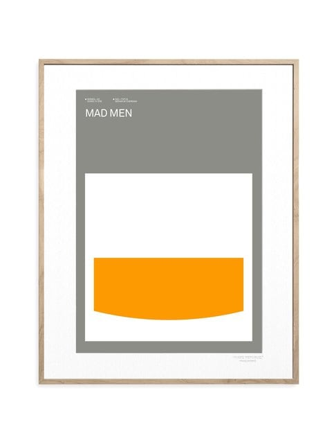 Iconic TV by Exergian Mad Men -juliste 30 x 40 cm