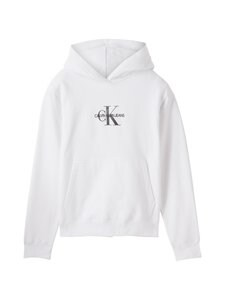 Calvin Klein Jeans Plus - Plus Glitter Monogram Hoodie -huppari - YAF BRIGHT WHITE   Stockmann