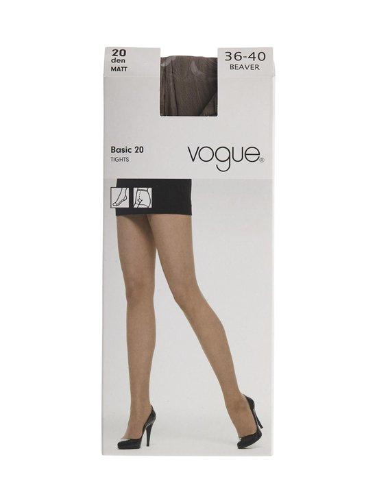 Vogue - Matt Basic 20 den -sukkahousut - BEAVER (RUSKEANHARMAA)   Stockmann - photo 1