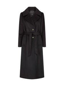 SAND Copenhagen - Cashmere Coat W - Clareta Belt -villakangastakki - 200 BLACK | Stockmann