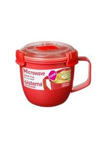 Sistema - Keittomuki mikroon 585 ml - PUNAINEN | Stockmann