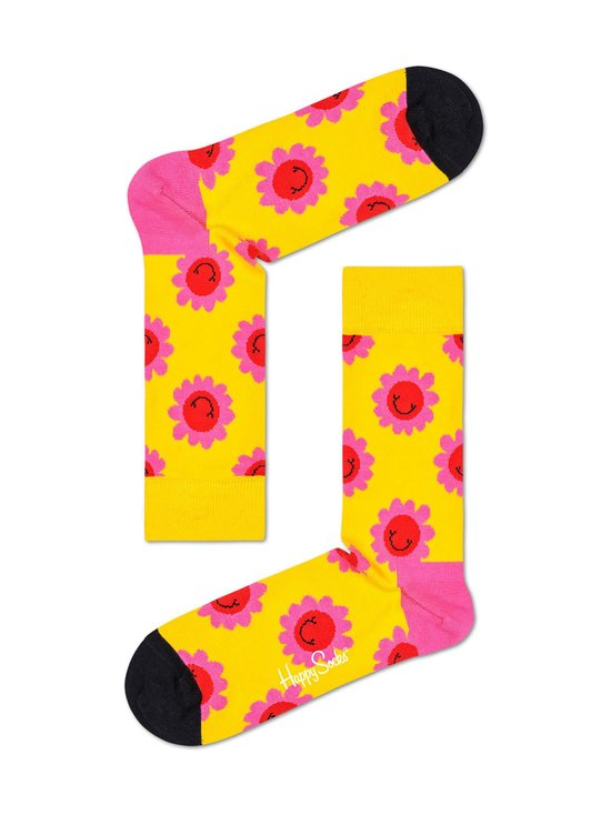 Happy Socks - Smiley Flower -sukat - 2200-YELLOW | Stockmann - photo 1