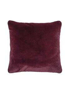 Essenza - Furry Cushion -koristetyyny 50 x 50 cm - BURGUNDY | Stockmann
