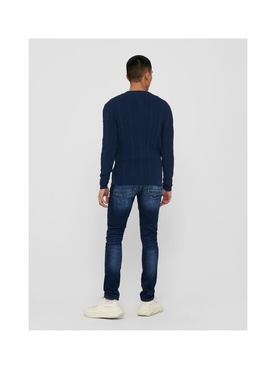 Only & Sons - OnsRige-puuvillaneule - DRESS BLUES | Stockmann - photo 2