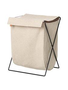 Ferm Living - Herman Laundry Stand -pyykkikori - MUSTA/BEIGE | Stockmann