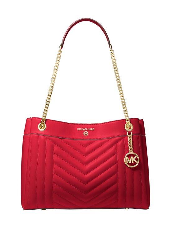 Michael Michael Kors - Susan Medium Quilted Leather Shoulder Bag -nahkalaukku - 683 BRIGHT RED | Stockmann - photo 1