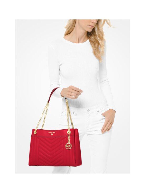 Michael Michael Kors - Susan Medium Quilted Leather Shoulder Bag -nahkalaukku - 683 BRIGHT RED | Stockmann - photo 4