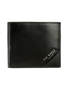 Ted Baker London - Prug Leather Bifold Wallet With Coin Pocket -nahkalompakko - 00 BLACK | Stockmann