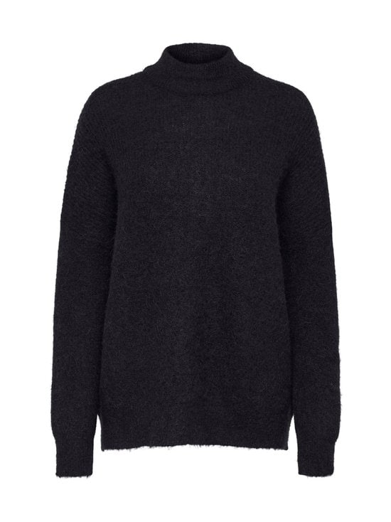 Selected - SlfLulu Enica LS Knit O-Neck -neule - C-N10 BLACK | Stockmann - photo 1