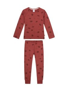 Sanetta - Kids Girl Mushroom Back To Nature -pyjama - 38146 REDWOOD   Stockmann
