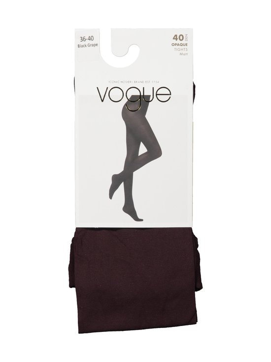 Vogue - Opaque 40 den -sukkahousut - 8739 BLACK GRAPE | Stockmann - photo 1