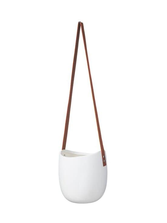 Wikholm Form - Hanging Pot With Leather Band -amppeli 16 x 18 cm - WHITE | Stockmann - photo 1