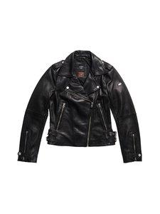Superdry - Essentials Biker -nahkatakki - 02A BLACK | Stockmann