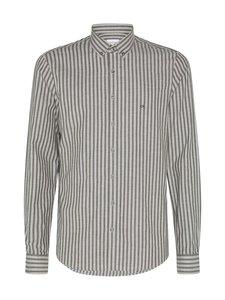 Calvin Klein Menswear - Soft Touch Stripe Slim Fit -kauluspaita - MRZ DARK OLIVE   Stockmann
