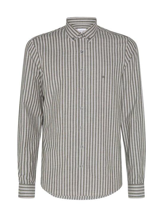 Calvin Klein Menswear - Soft Touch Stripe Slim Fit -kauluspaita - MRZ DARK OLIVE | Stockmann - photo 1