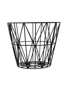 Ferm Living - Wire Basket -kori - MUSTA | Stockmann