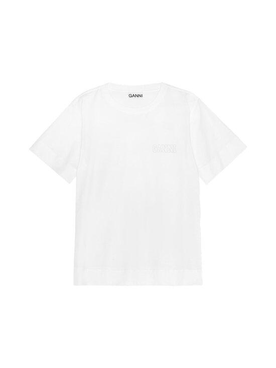 Ganni - Ohut Thin Software Jersey T-paita - 001 WHITE | Stockmann - photo 1