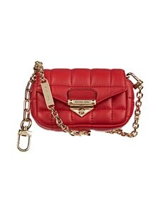 Michael Michael Kors - Soho XS Quilted Leather Bag Charm -nahkalaukku - 683 BRIGHT RED | Stockmann