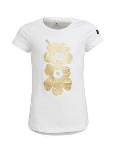 adidas x Marimekko - kukkakuviollinen Unikko -T-paita - WHITE | Stockmann