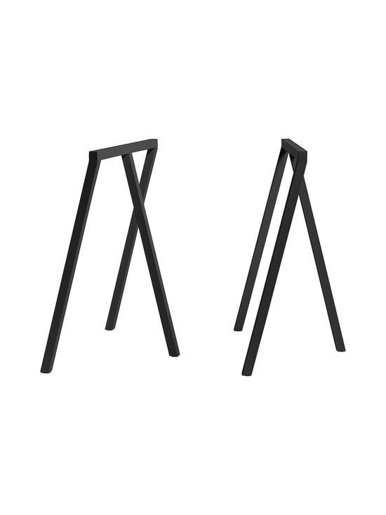HAY - Loop Stand -pukkijalat 64,5 x 37 x 72 cm - MUSTA   Stockmann - photo 1