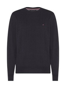 Tommy Hilfiger - Pima Cotton Cashmere Crew Neck -neule - BD2 BLACK HEATHER | Stockmann