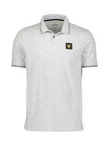 Lyle & Scott - Tipped Polo Shirt -paita - D24 LIGHT GREY MARL | Stockmann