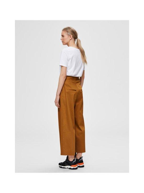 Selected - SlfMilla HW Wide Pant W -housut - BRONZE BROWN | Stockmann - photo 2