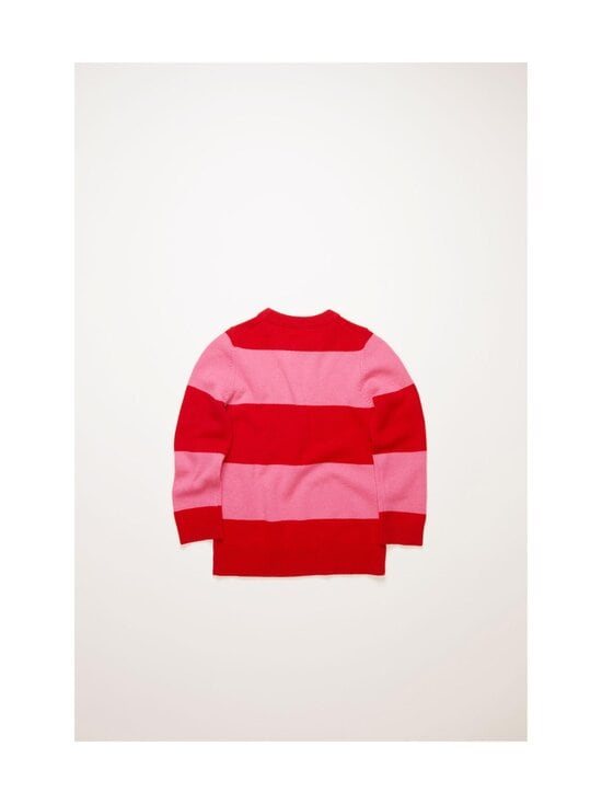Acne Studios - Mini Nimah Block Stripe Crewneck -villaneule - RED/BUBBLEGUM PINK BZC | Stockmann - photo 2