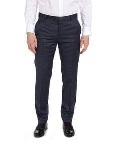 Tommy Hilfiger Tailored - Regular Fit Structured -puvunhousut - DARK BLUE (TUMMANSININEN) | Stockmann