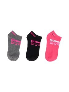 Superdry Sport - Ultimate Triple -sukat 3-pack - AP5 BLACK/GREY/PINK | Stockmann