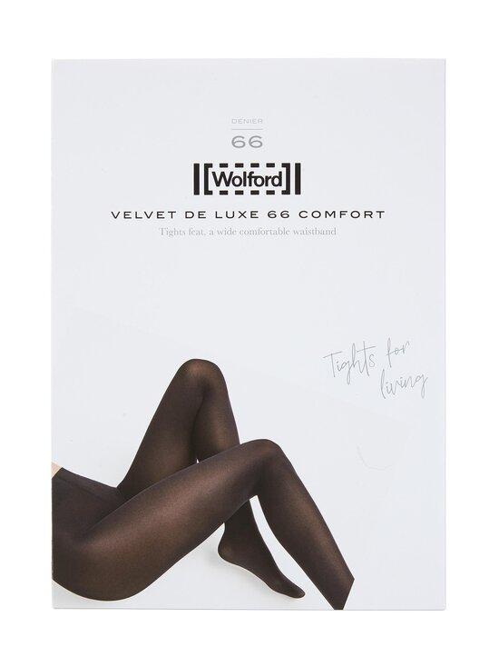 Wolford - Velvet de Luxe 66 den -sukkahousut - 6581 DARK ARMY | Stockmann - photo 1